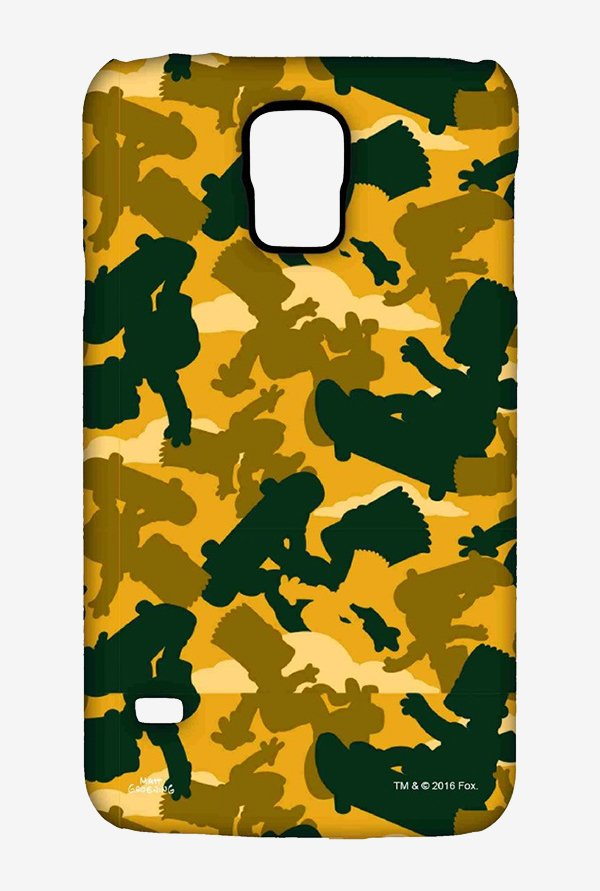 Simpsons Camo Bart Case for Samsung S5