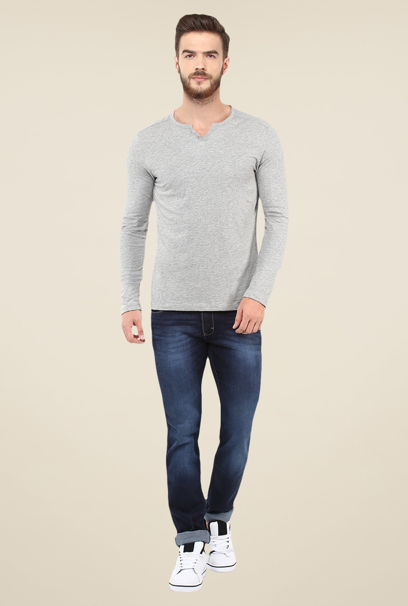 celio* Grey Textured T Shirt