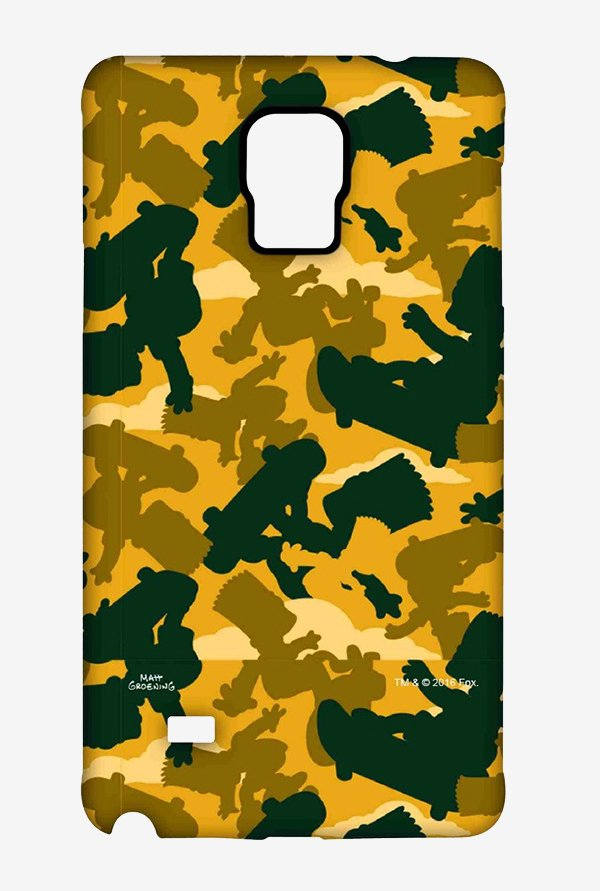 Simpsons Camo Bart Case for Samsung Note 4