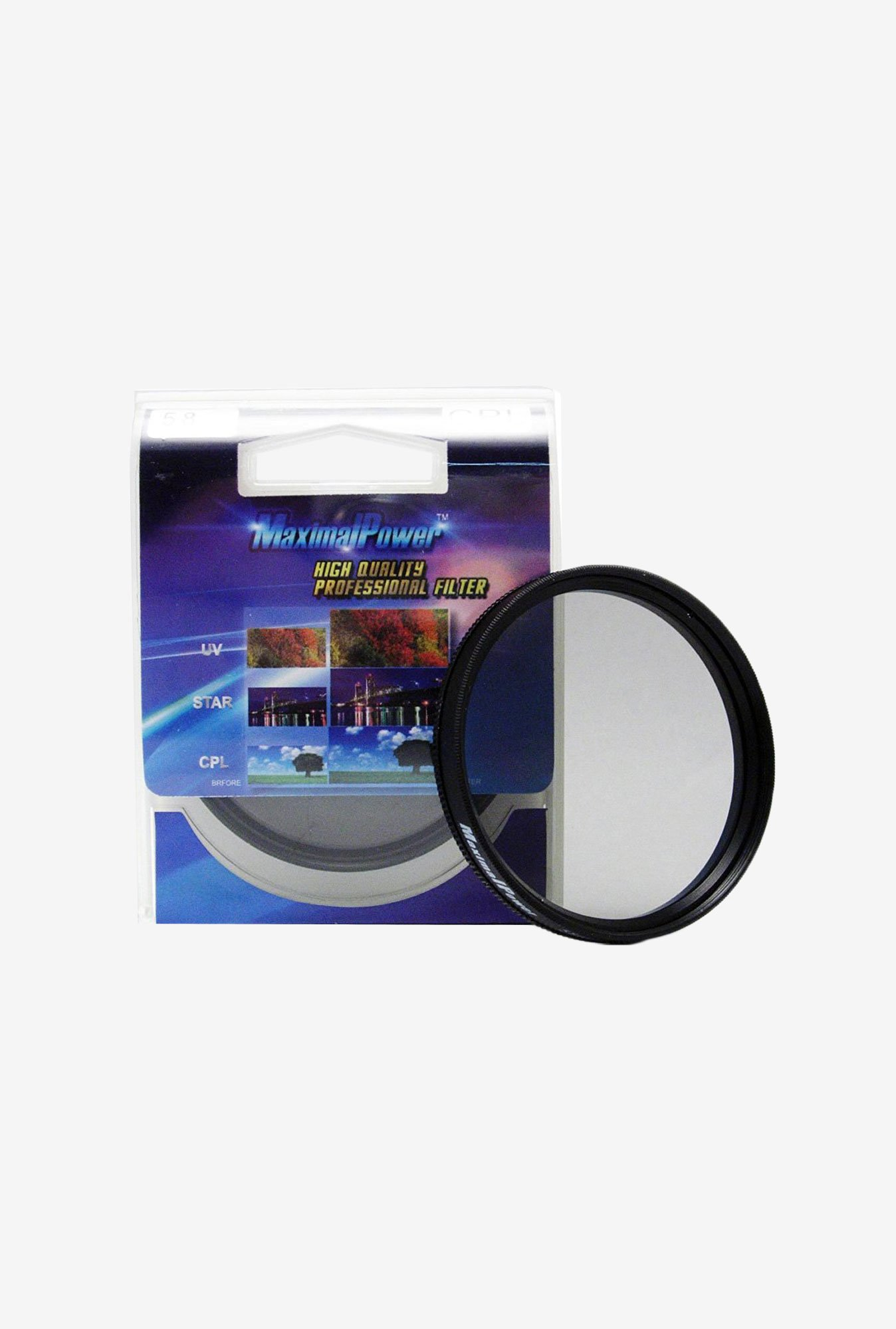 Maximal Power 49mm Circular Polarizer Filter (Black)