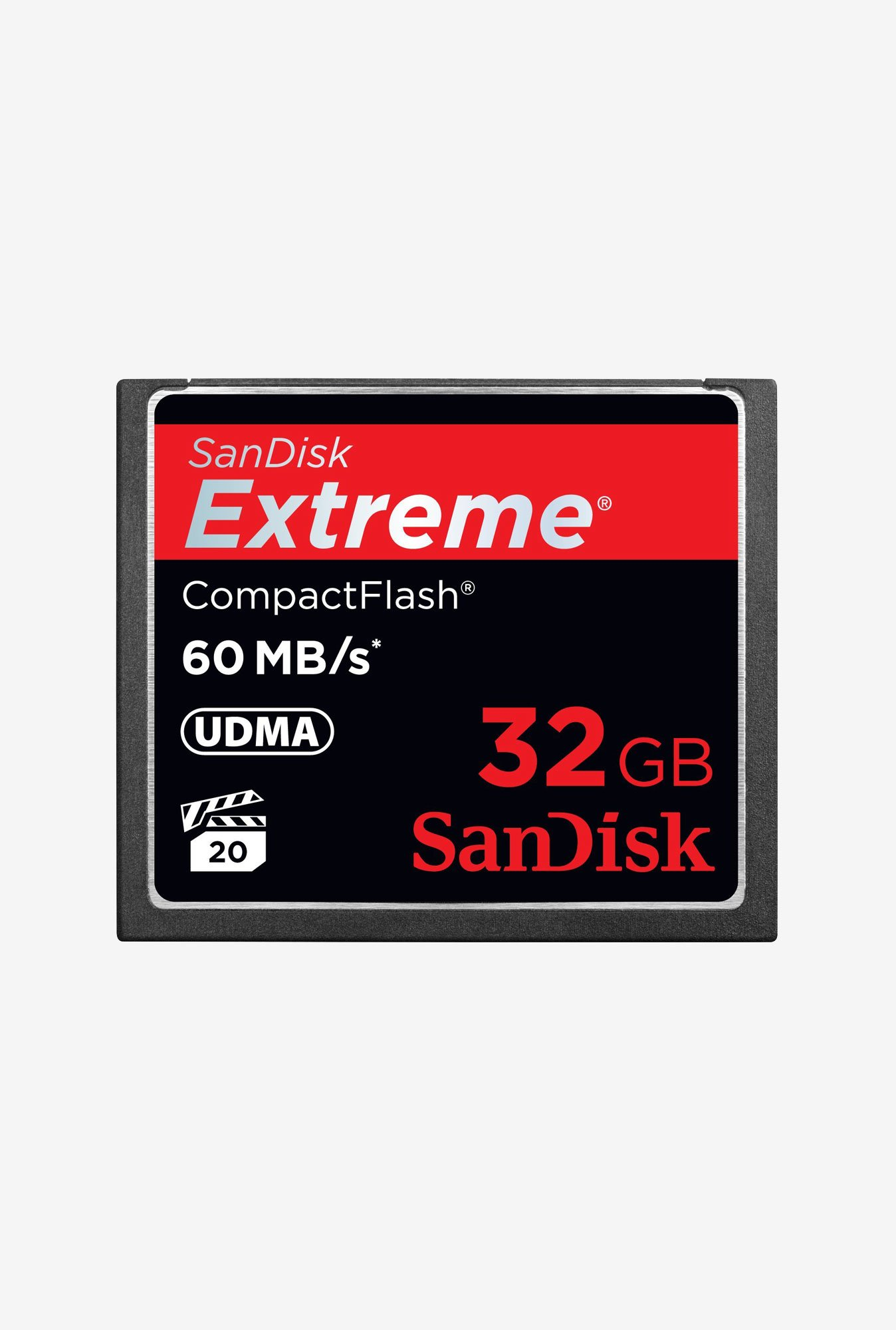 SanDisk 32 Gb Compact Flash Memory Card (Black)
