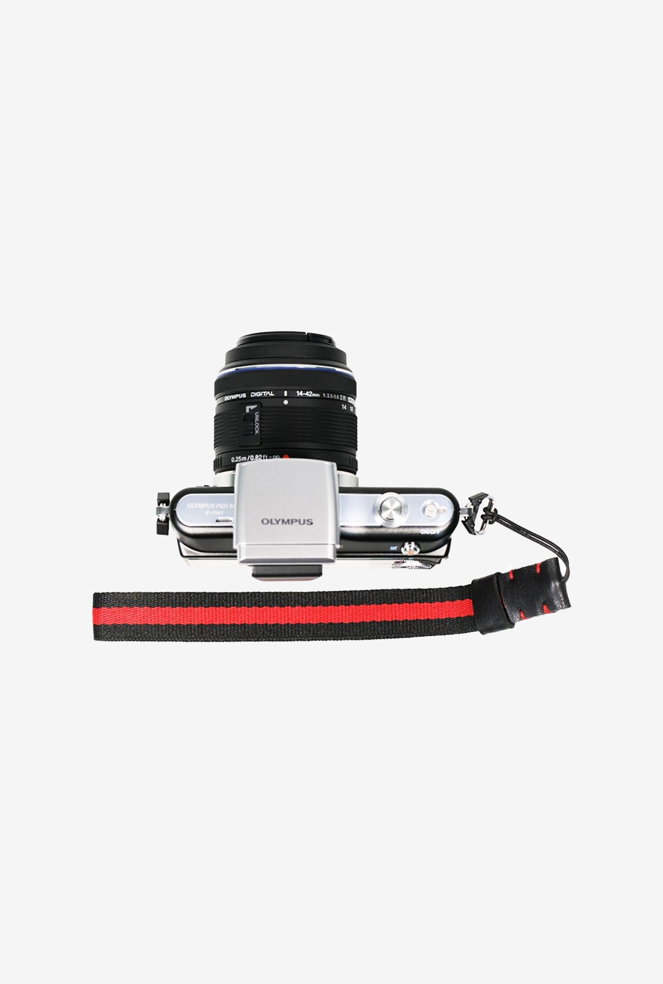 FotoTech Knitted Grosgrain Wrist Strap (Black & Red)