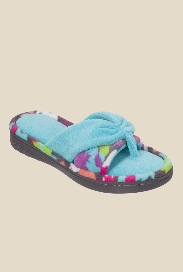 Dearfoams Two-Piece Turquoise Thong Sandals
