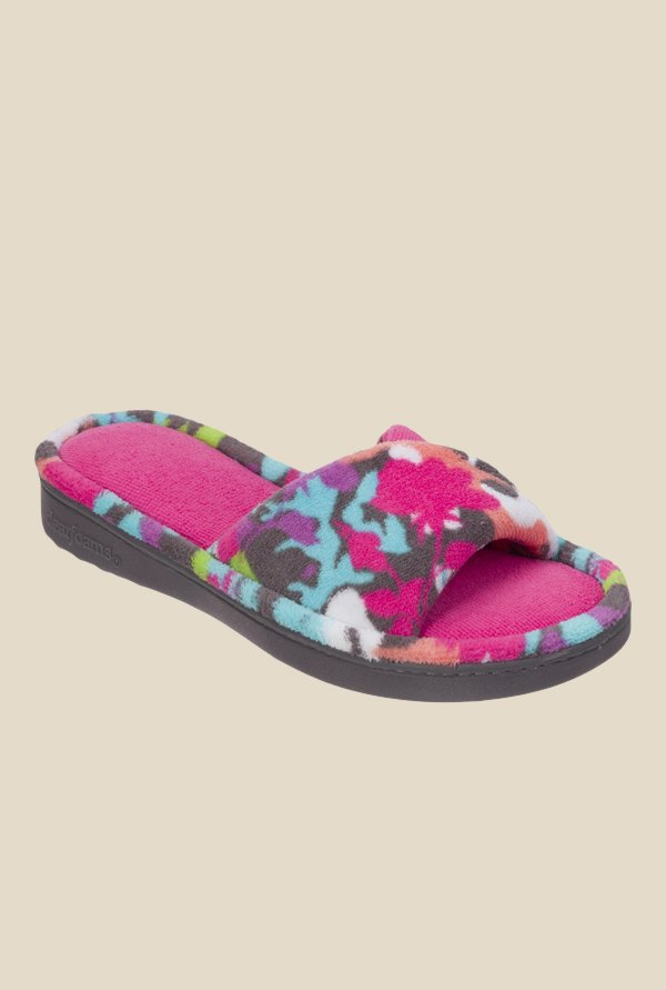 Dearfoams Twist Pink & Turquoise Casual Sandals