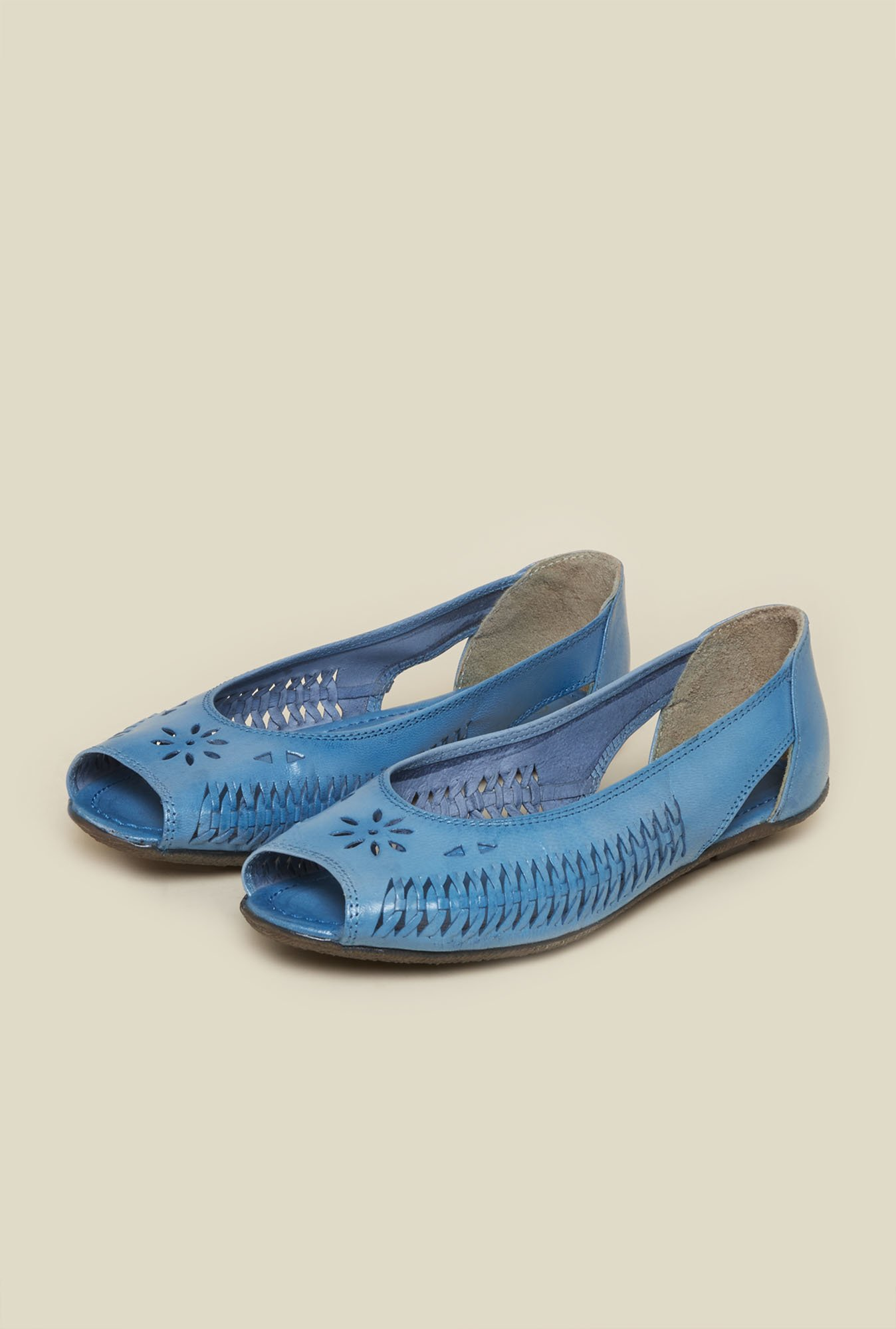 Metro Blue Peeptoe Shoes