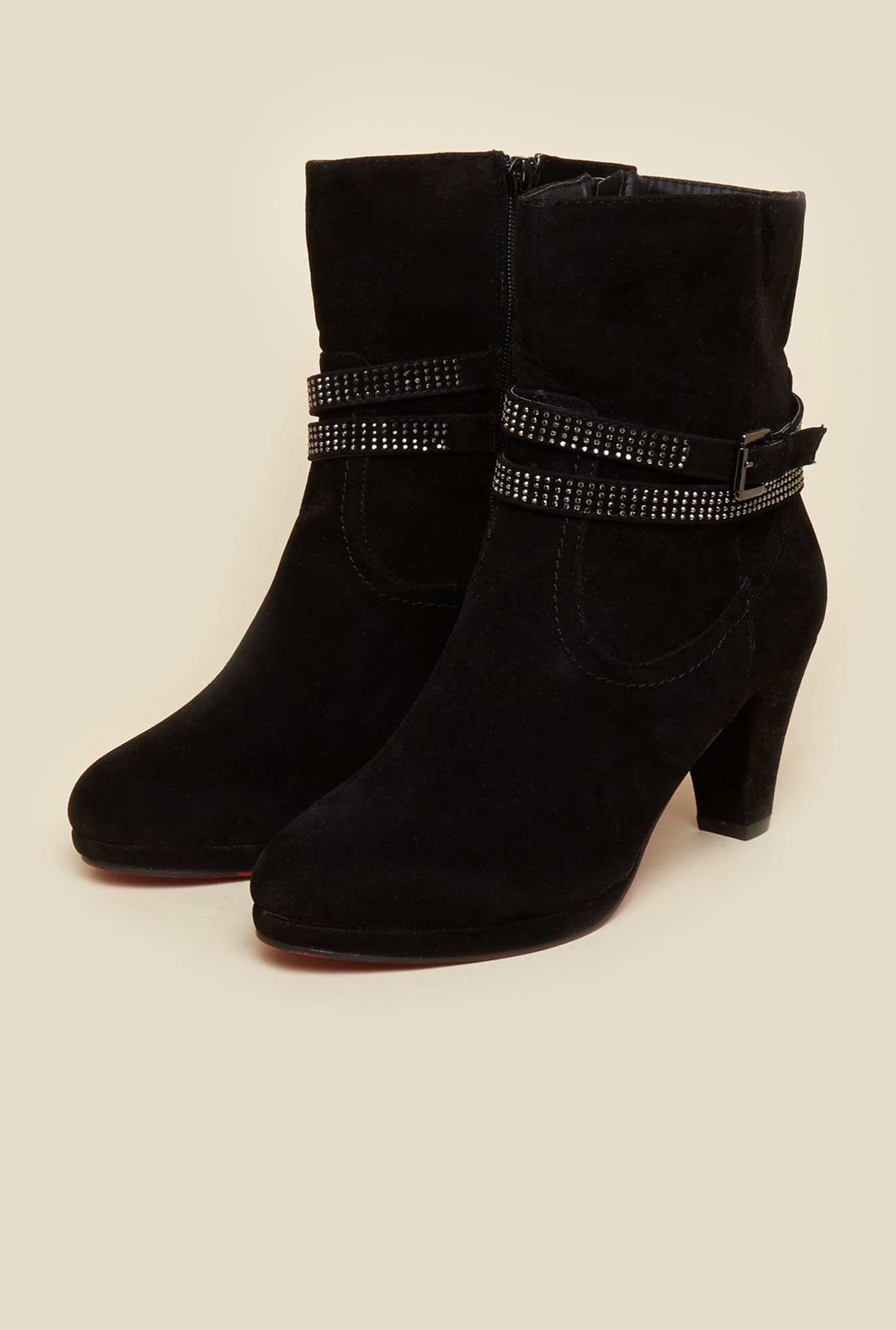 Mochi Black Casual Boots