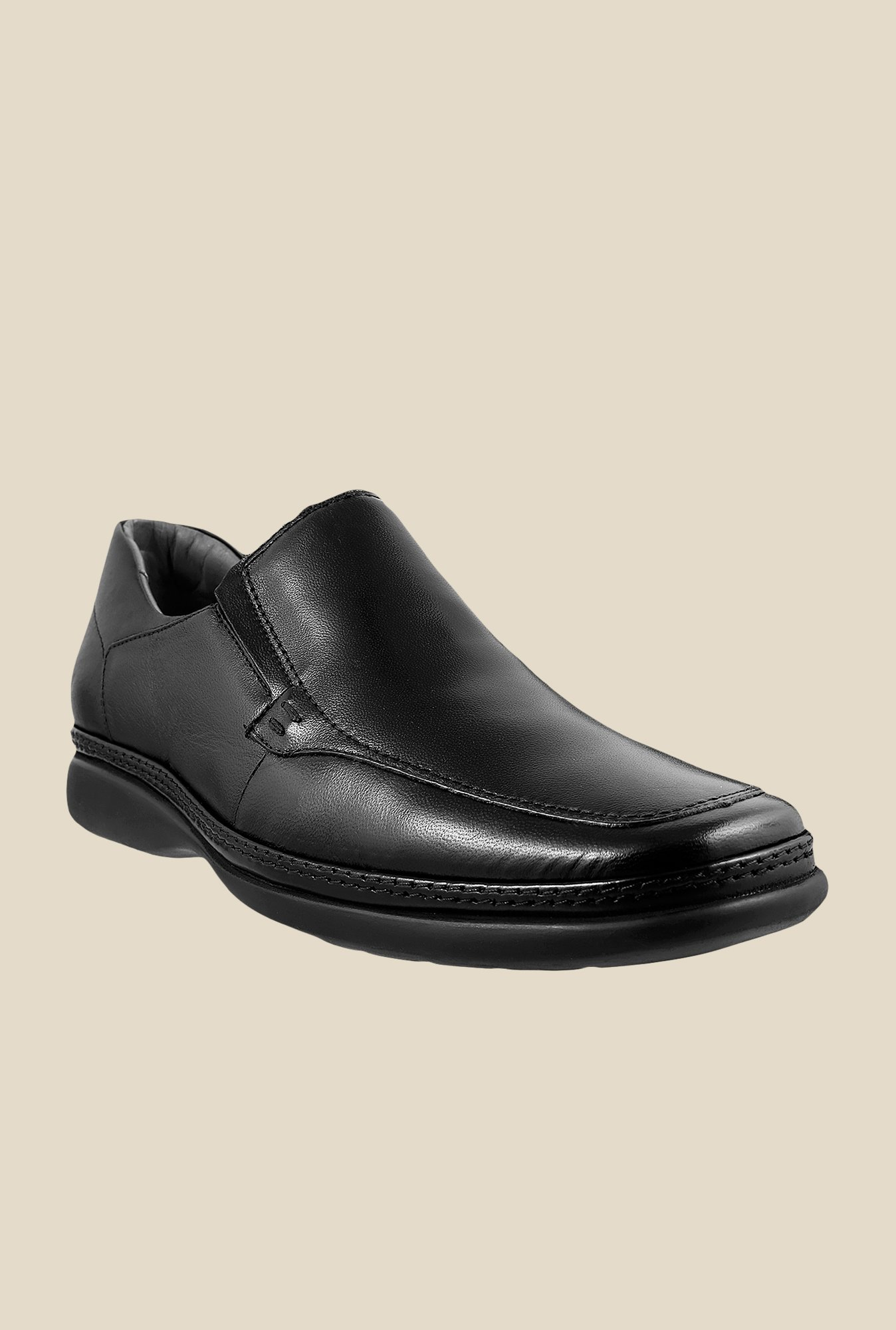 Da Vinchi by Metro Black Formal Slip-Ons