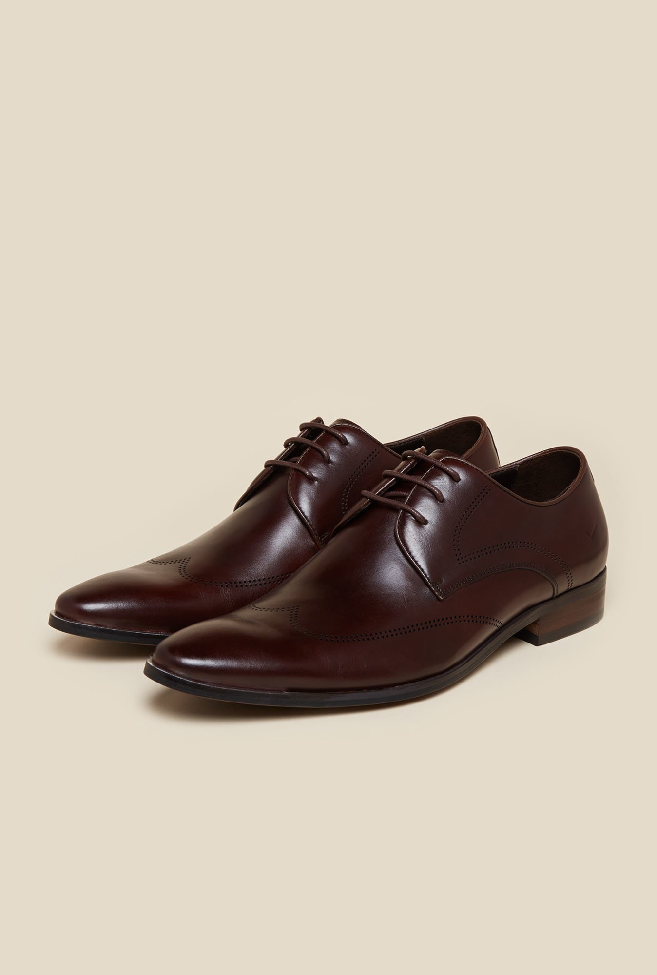Da Vinchi by Metro Maroon Derby Shoes