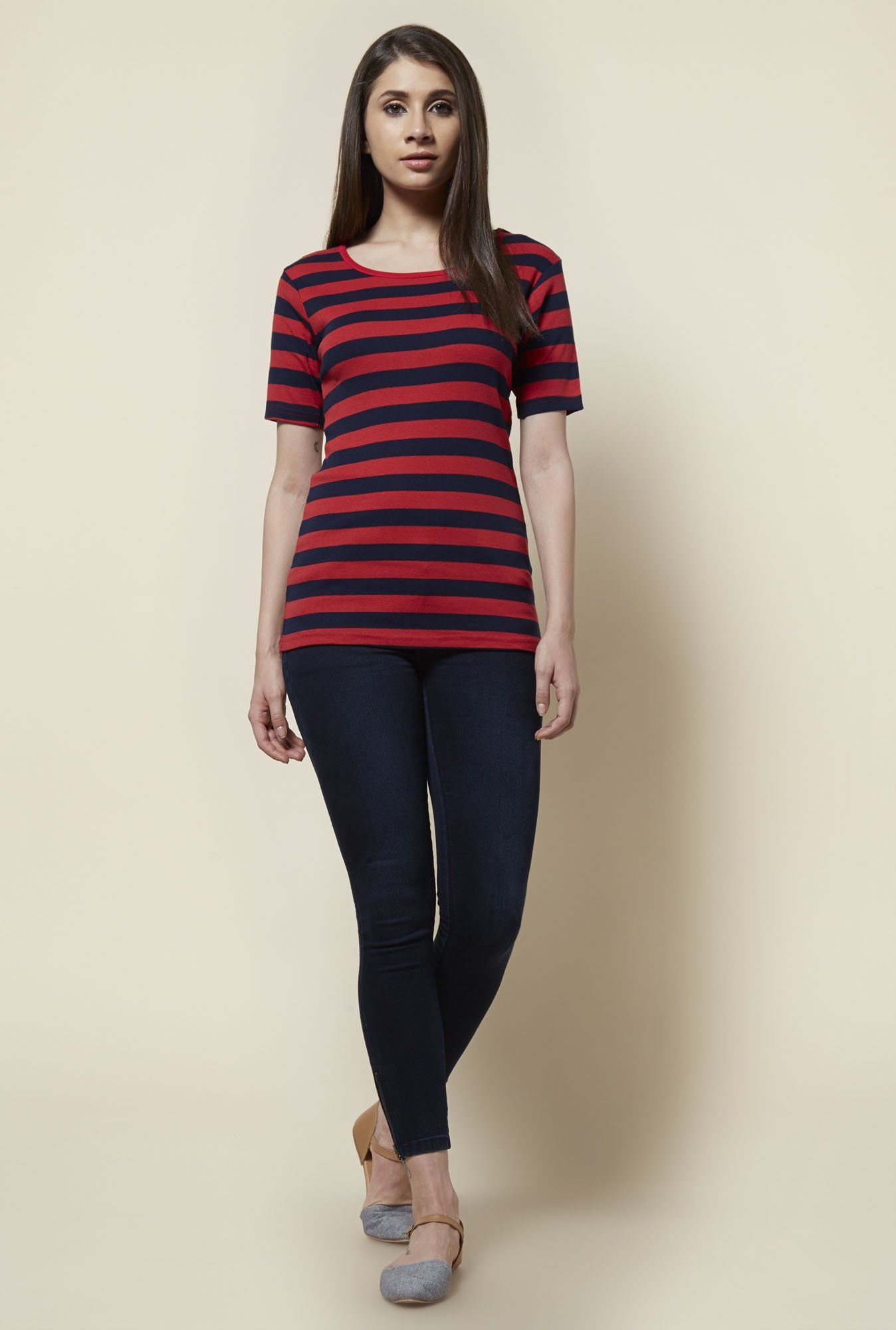 Zudio Red & Navy Elsa T Shirt