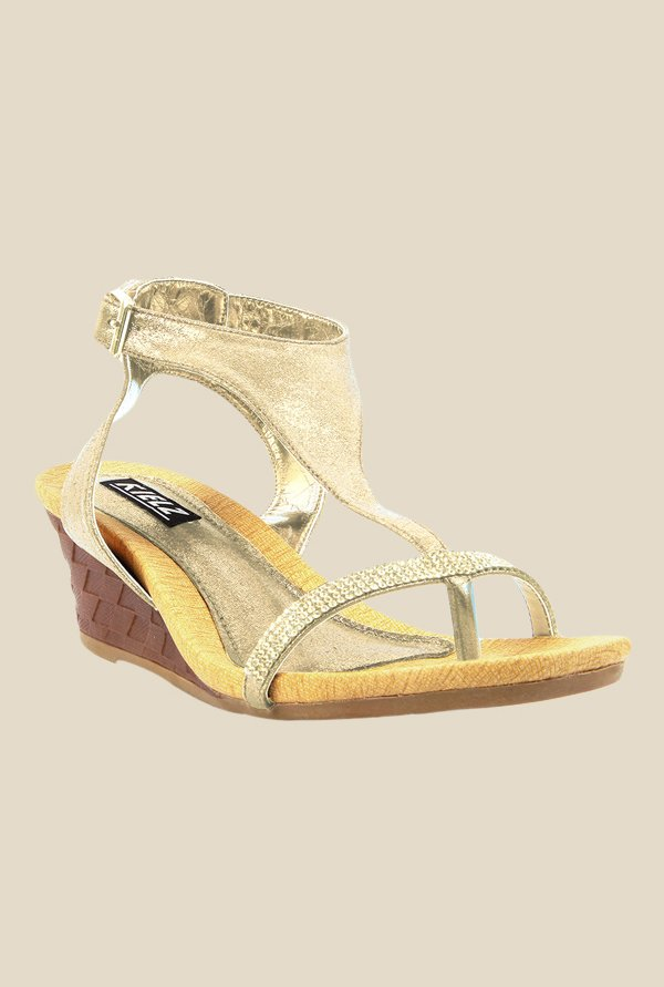 Kielz Golden Back Strap Wedges