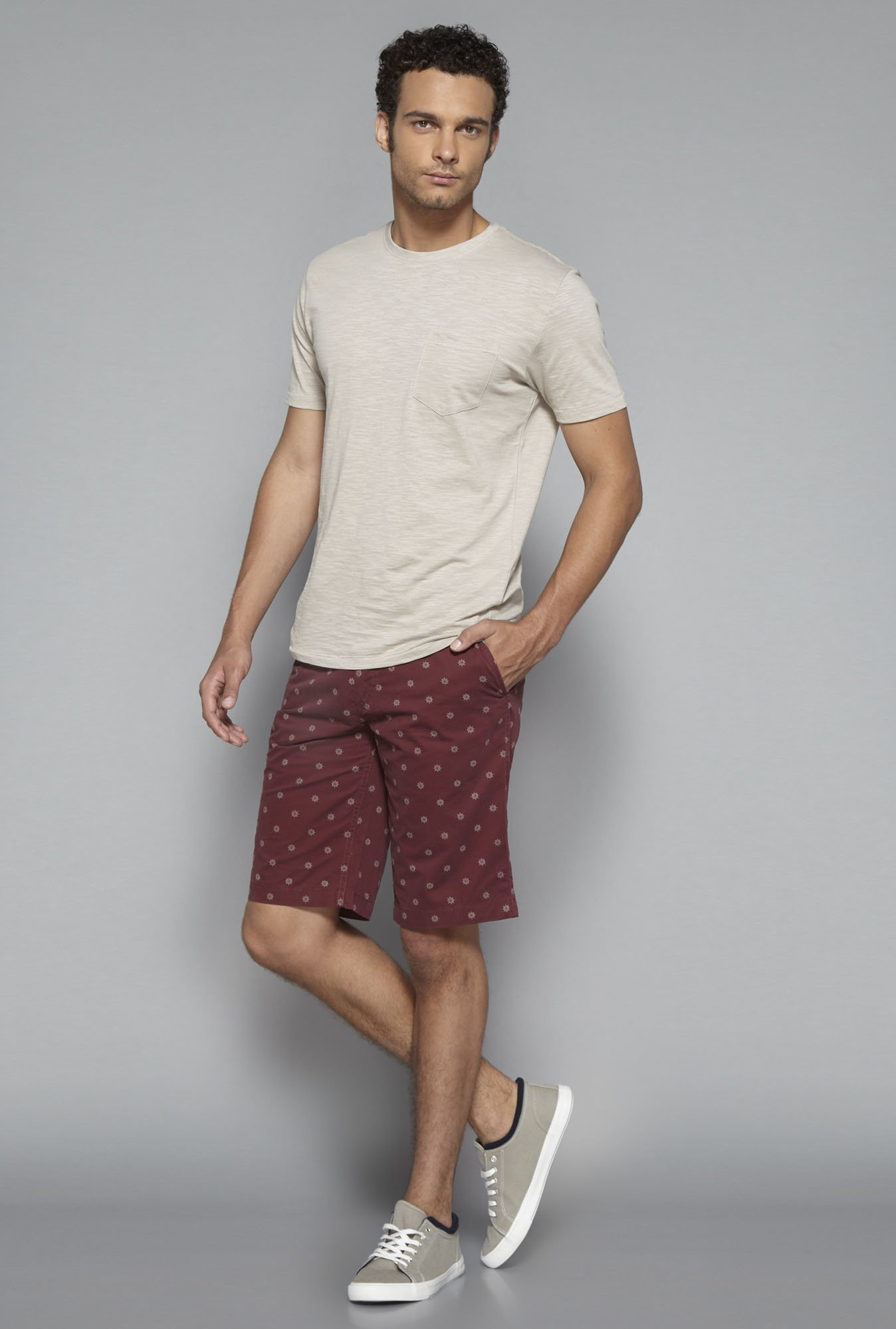 Westsport by Westside Maroon Slim Fit Shorts