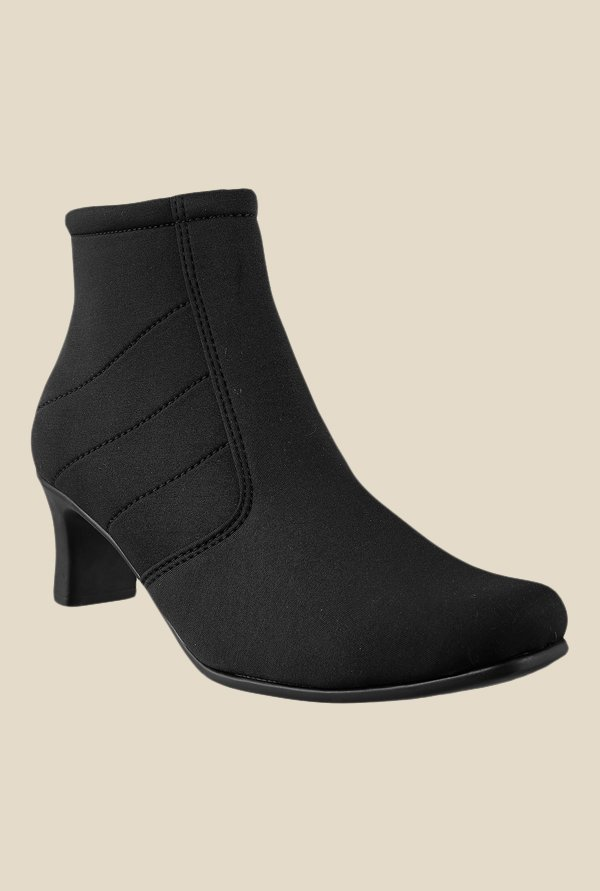 Metro Black Ankle High Booties
