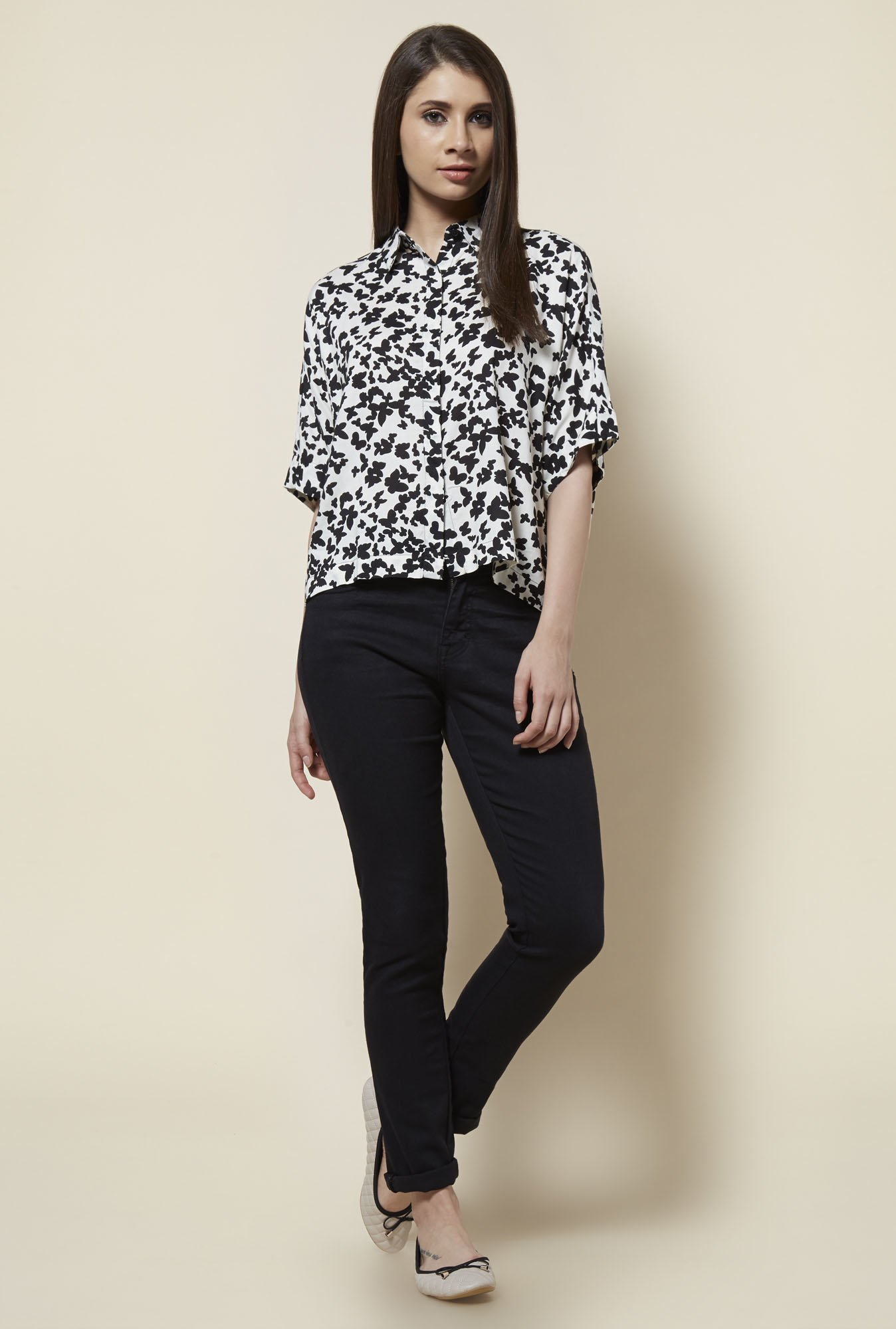 Zudio White Kenny Relaxed Fit Blouse