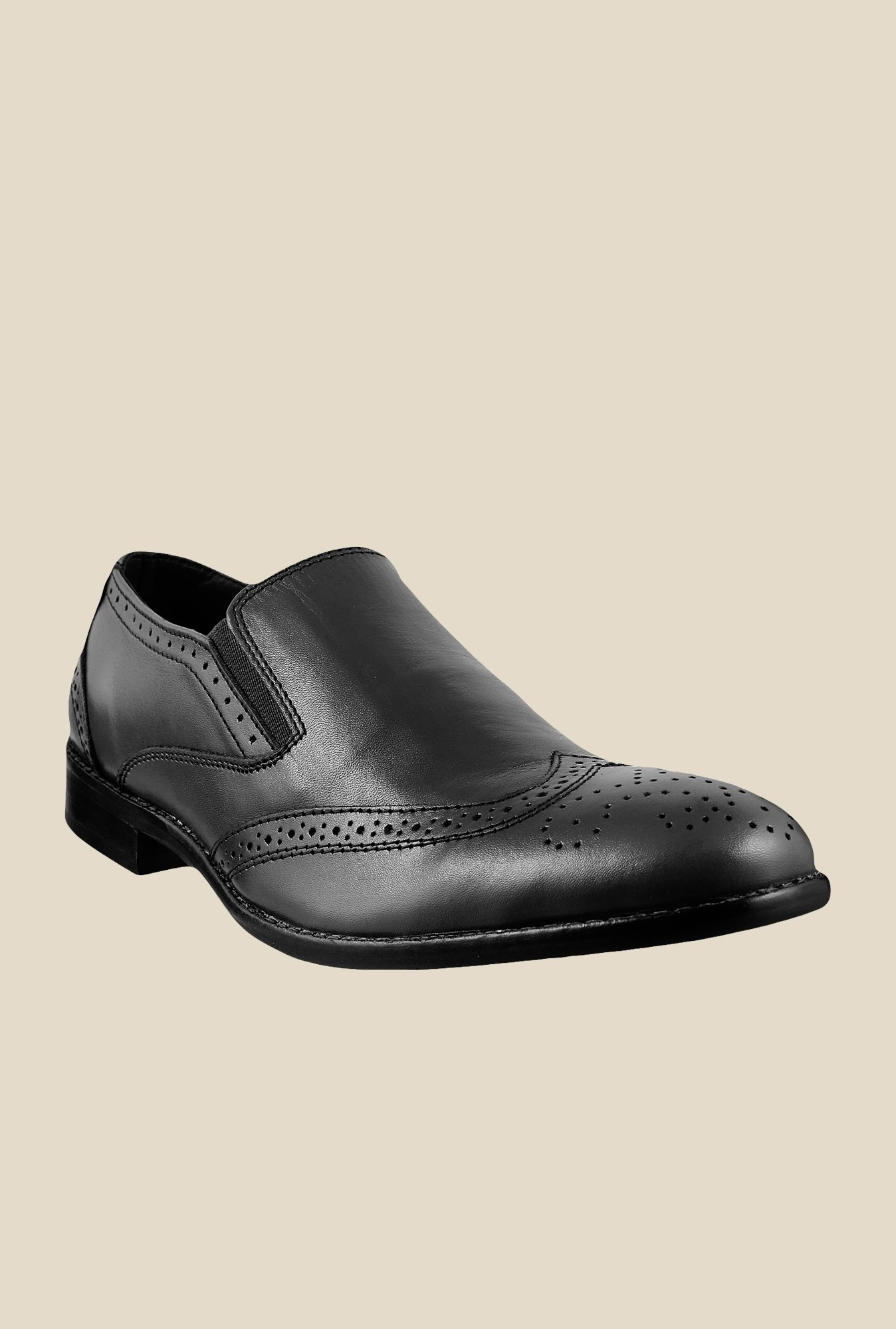 Da Vinchi by Metro Black Brogue Shoes