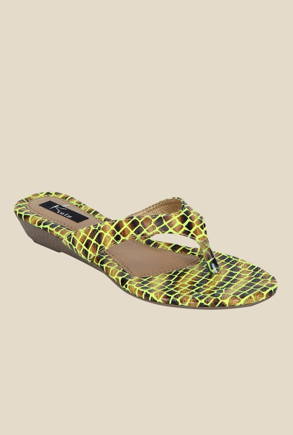 Kielz Yellow Thong Sandals
