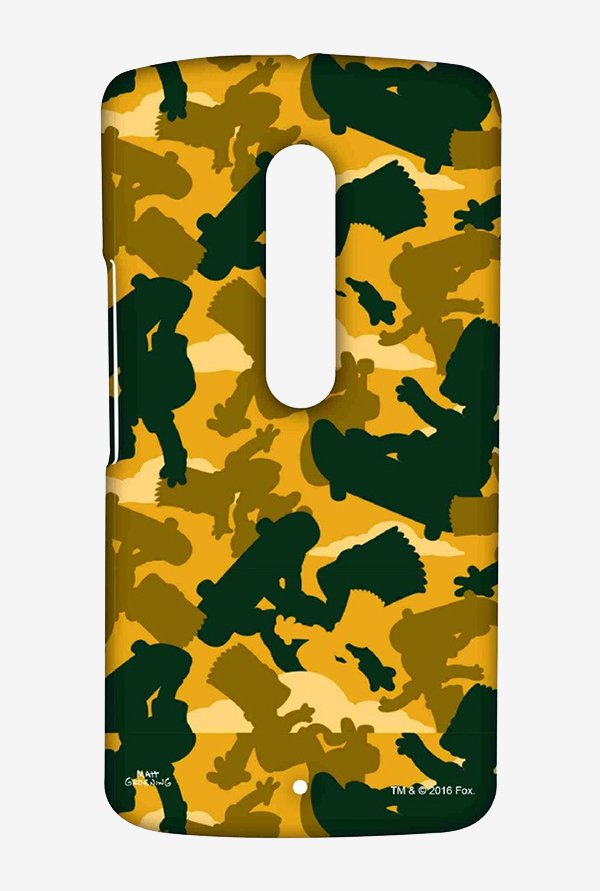 Simpsons Camo Bart Case for Moto X Play