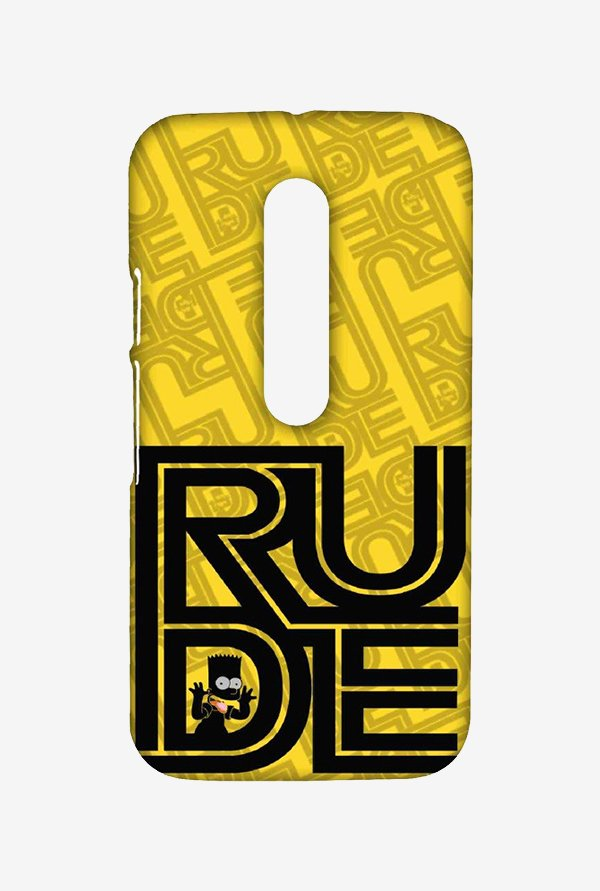 Simpsons Rude Case for Moto G Turbo