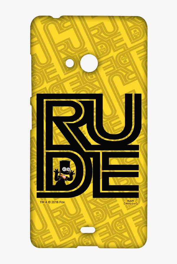 Simpsons Rude Case for Microsoft Lumia 540