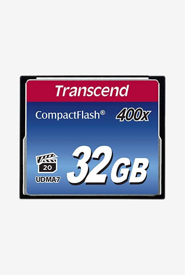 Transcend 400X 32 Gb Compact Flash Memory Card (Black)