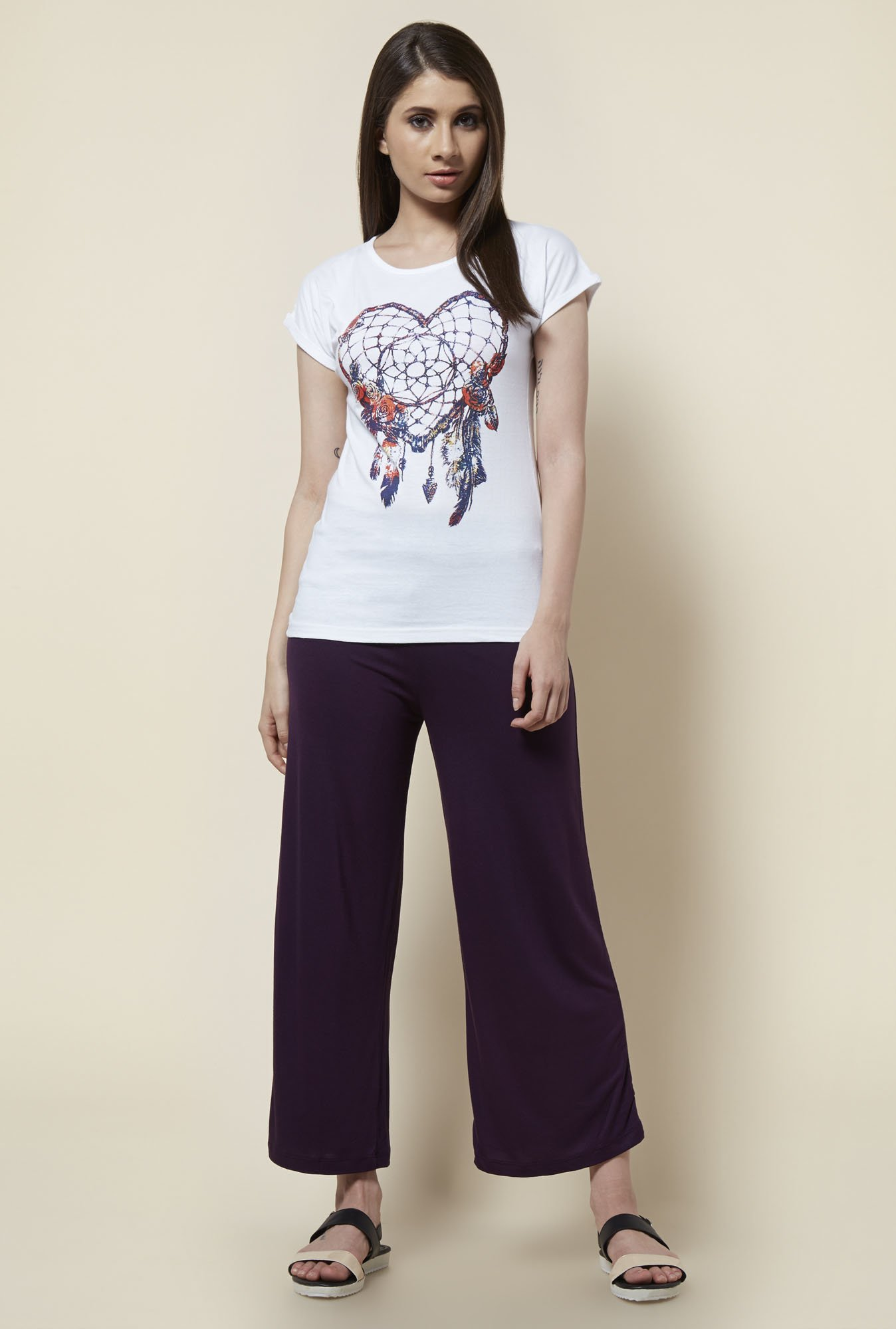 Zudio Wine Relaxed Fit Palazzo