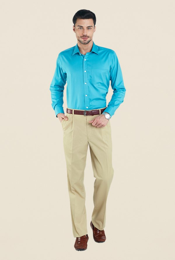 ColorPlus Beige Solid Chinos