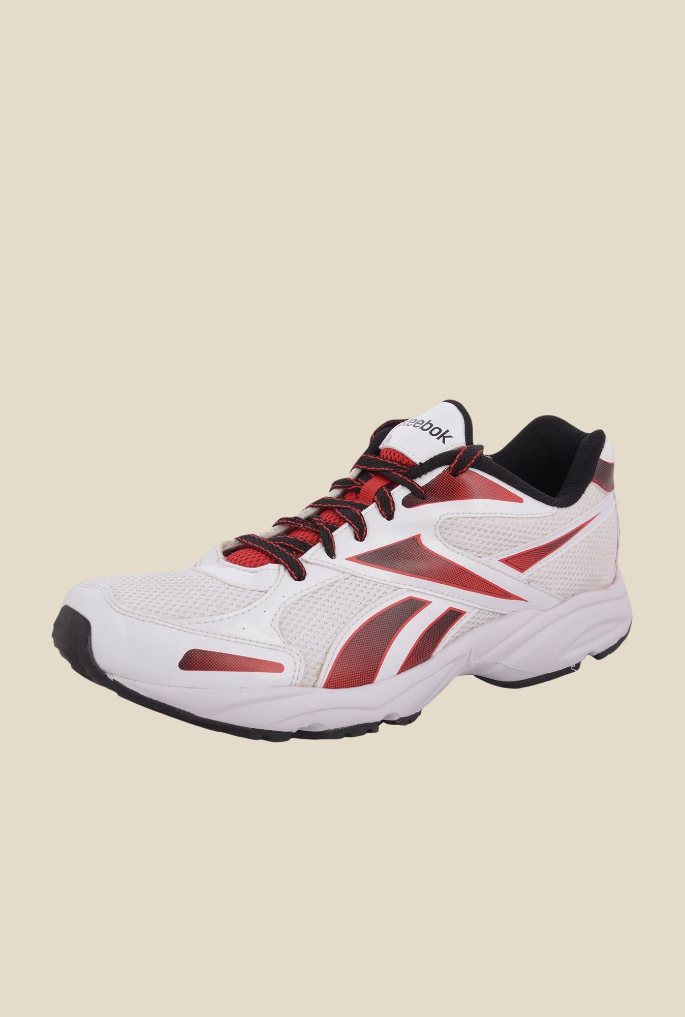 Reebok White & Red Running Shoes