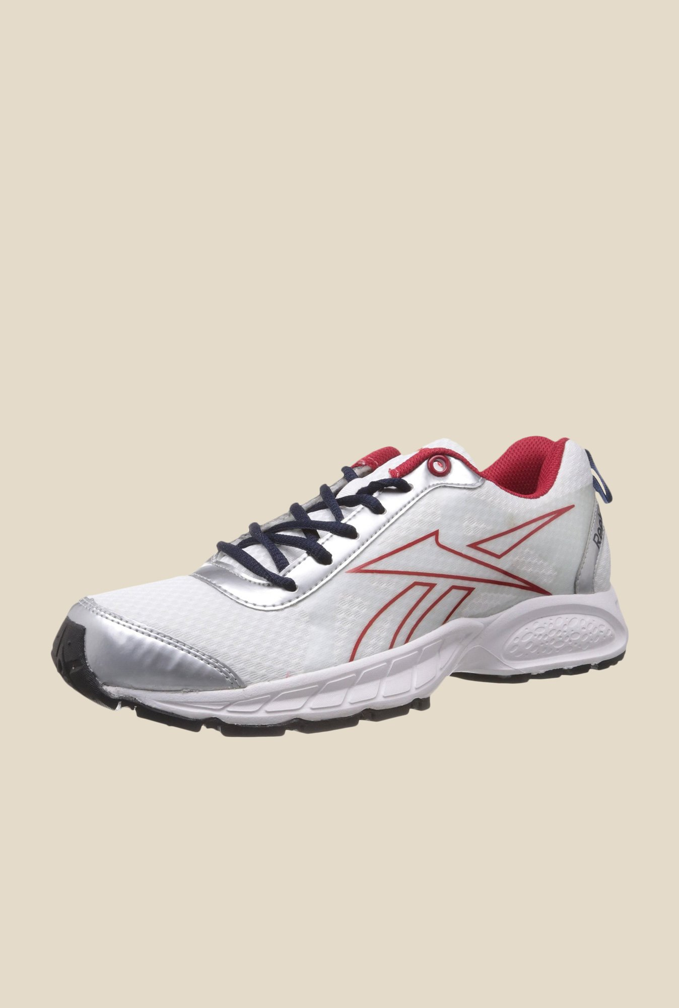 Reebok Top Runner LP White & Red Running Shoes