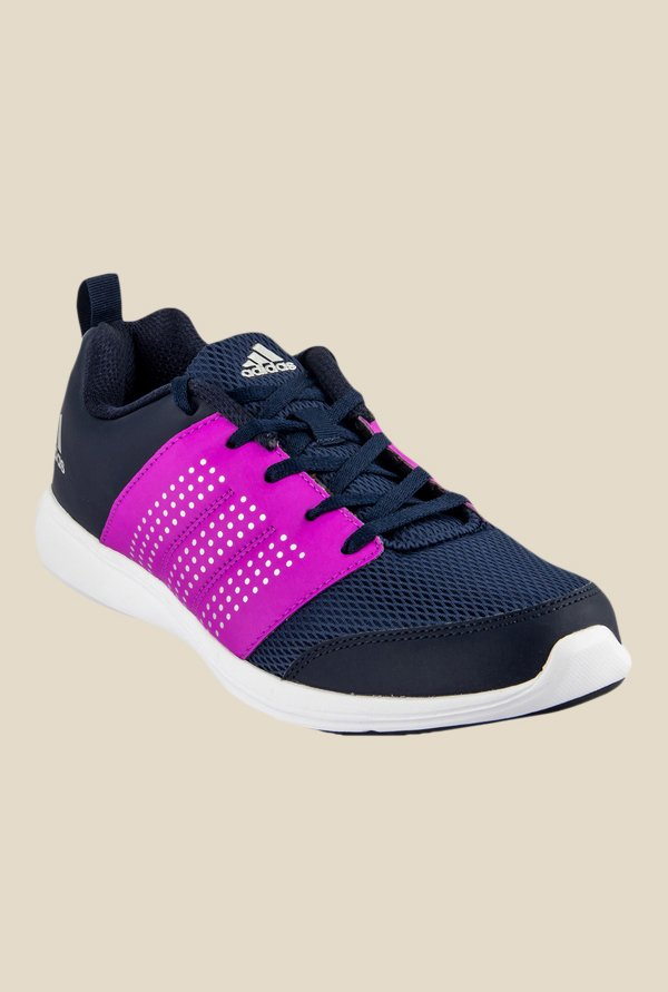 Adidas Adispree Navy & Purple Running Shoes