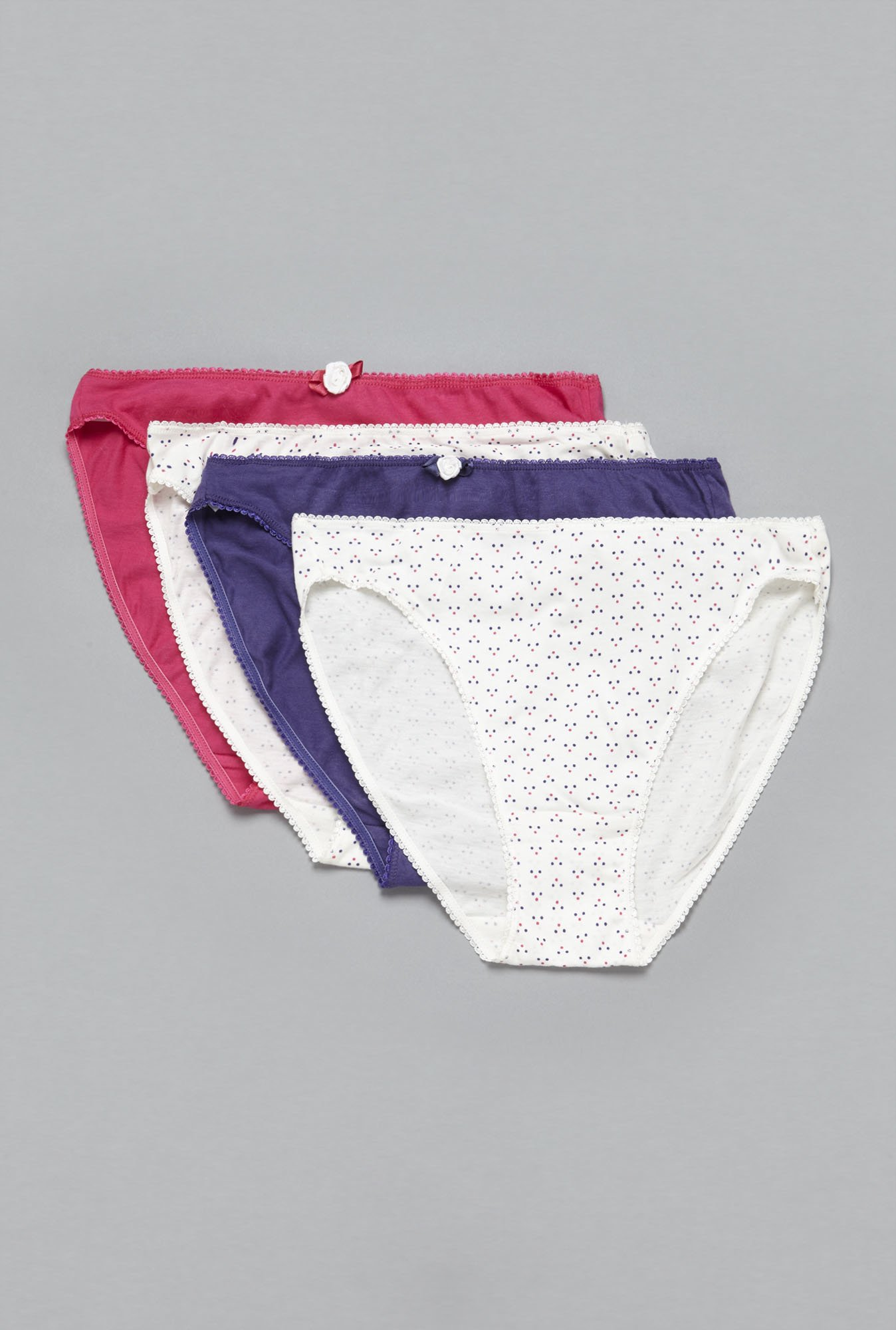 Wunderlove by Westside White, Purple, Pink Brief (Pack Of 4)