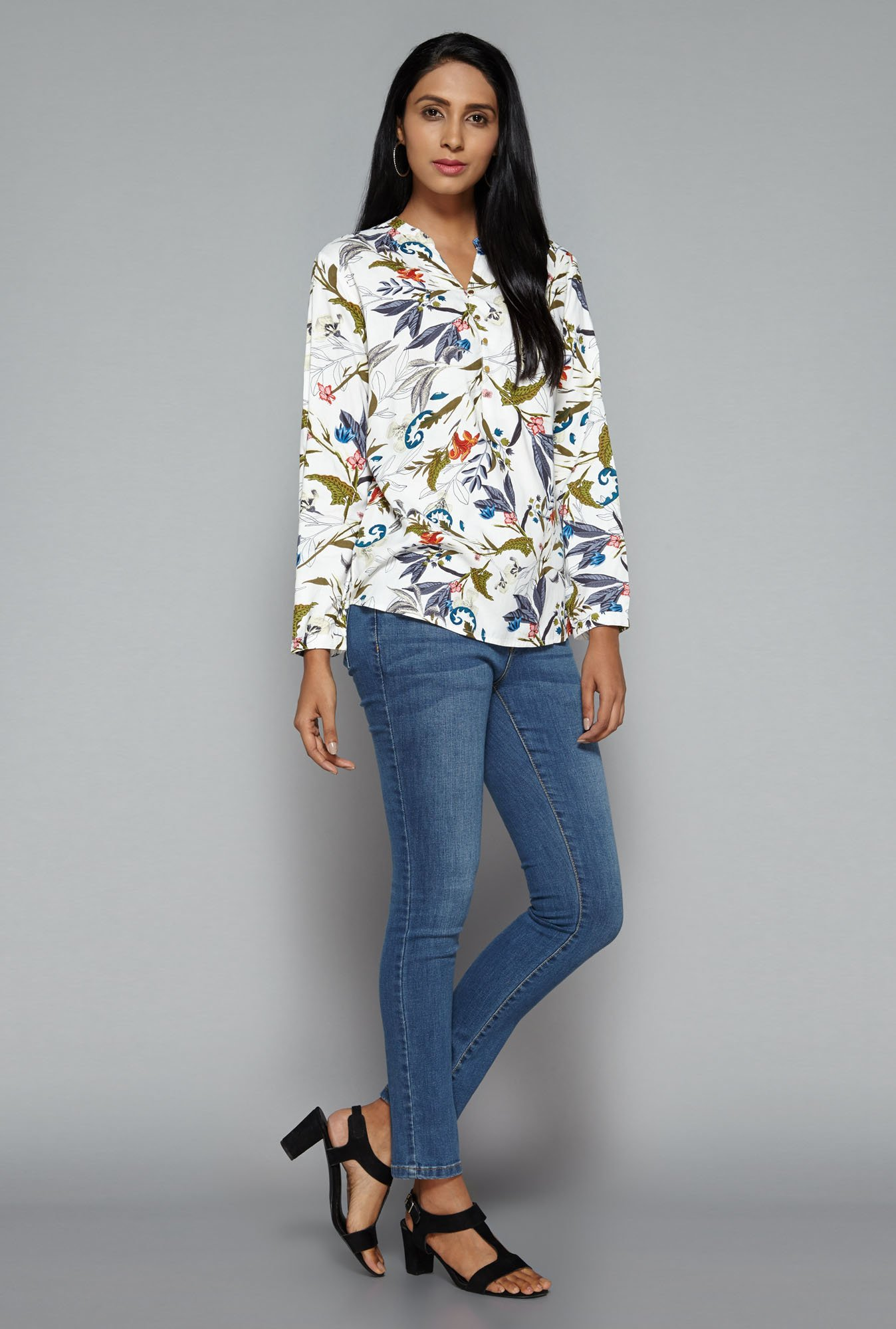 LOV by Westside White Leonne Blouse