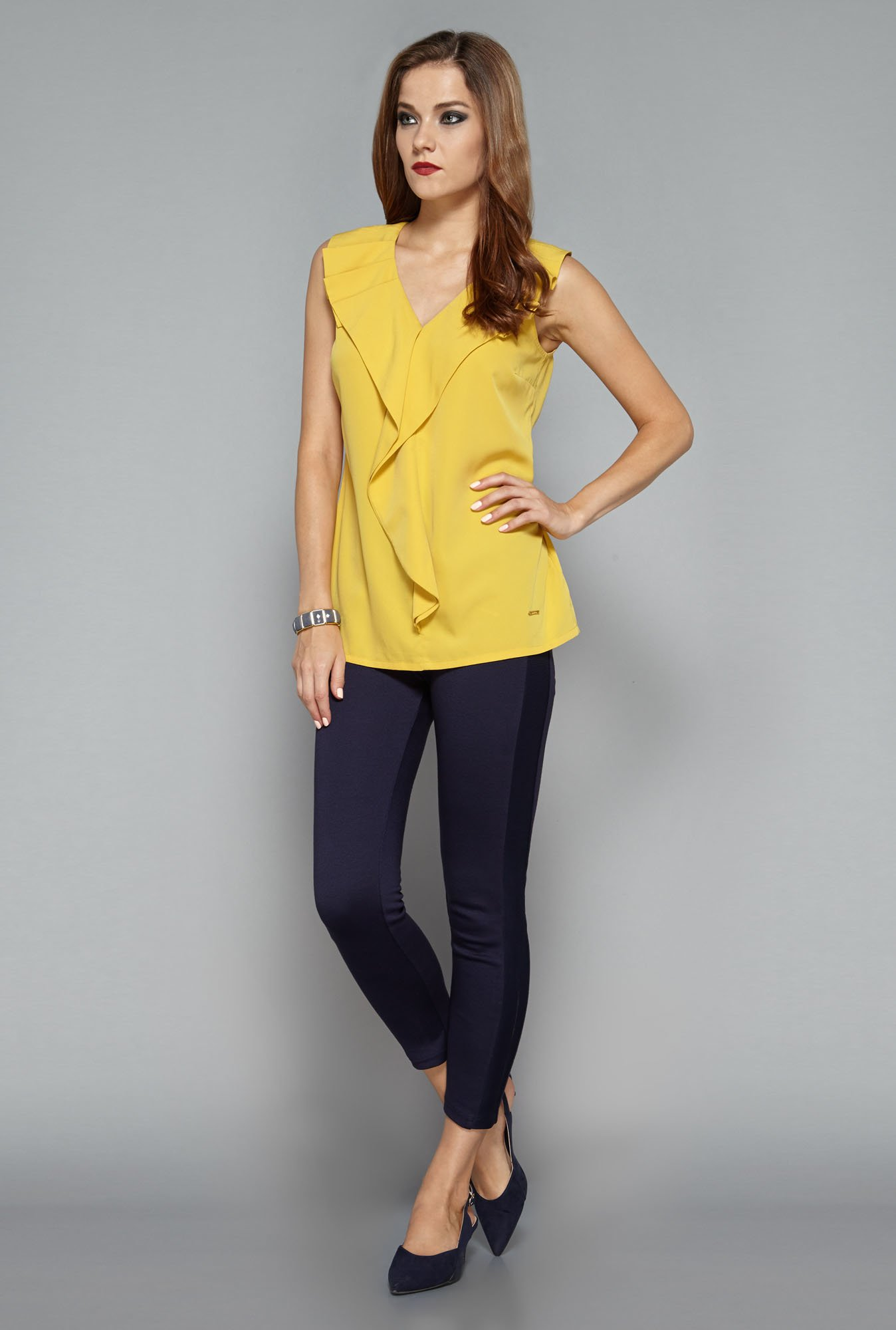 Wardrobe by Westside Mustard Brooke Blouse