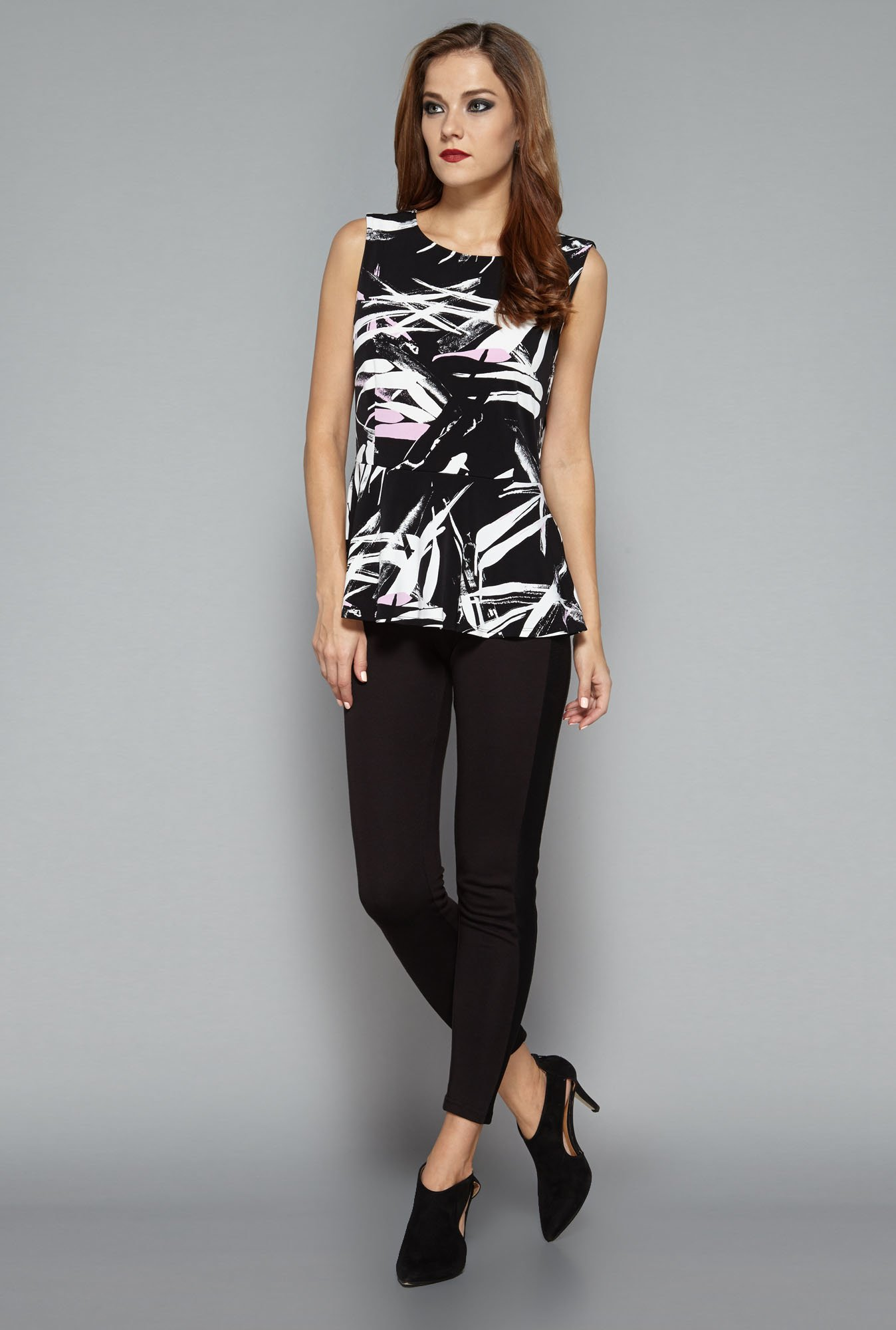 Wardrobe by Westside Black Printed Blouse