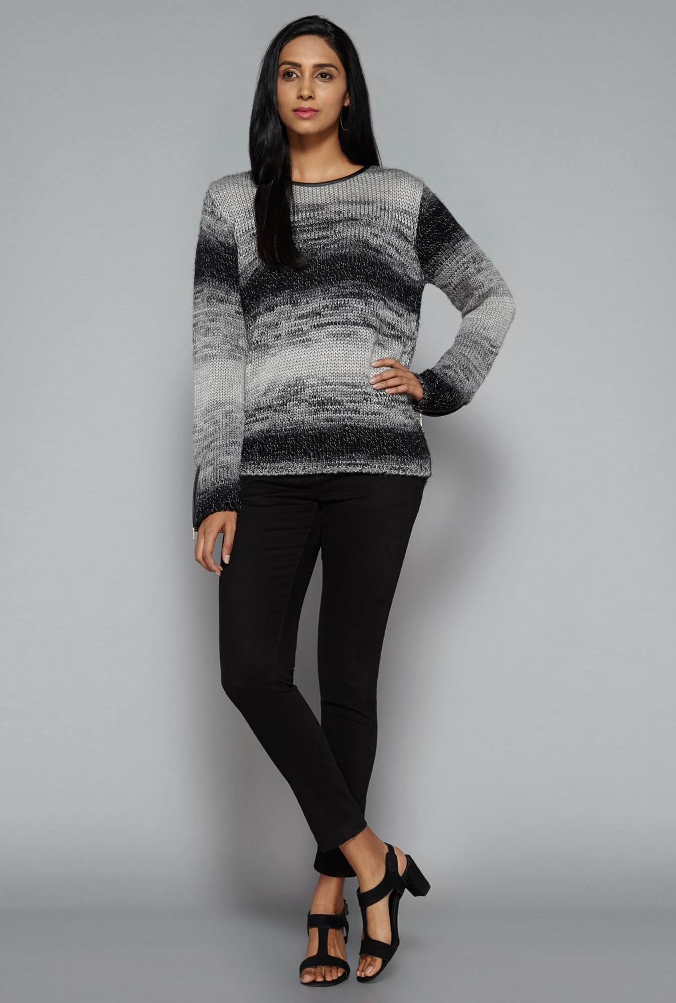 LOV by Westside Black & Grey Celinda Jumper