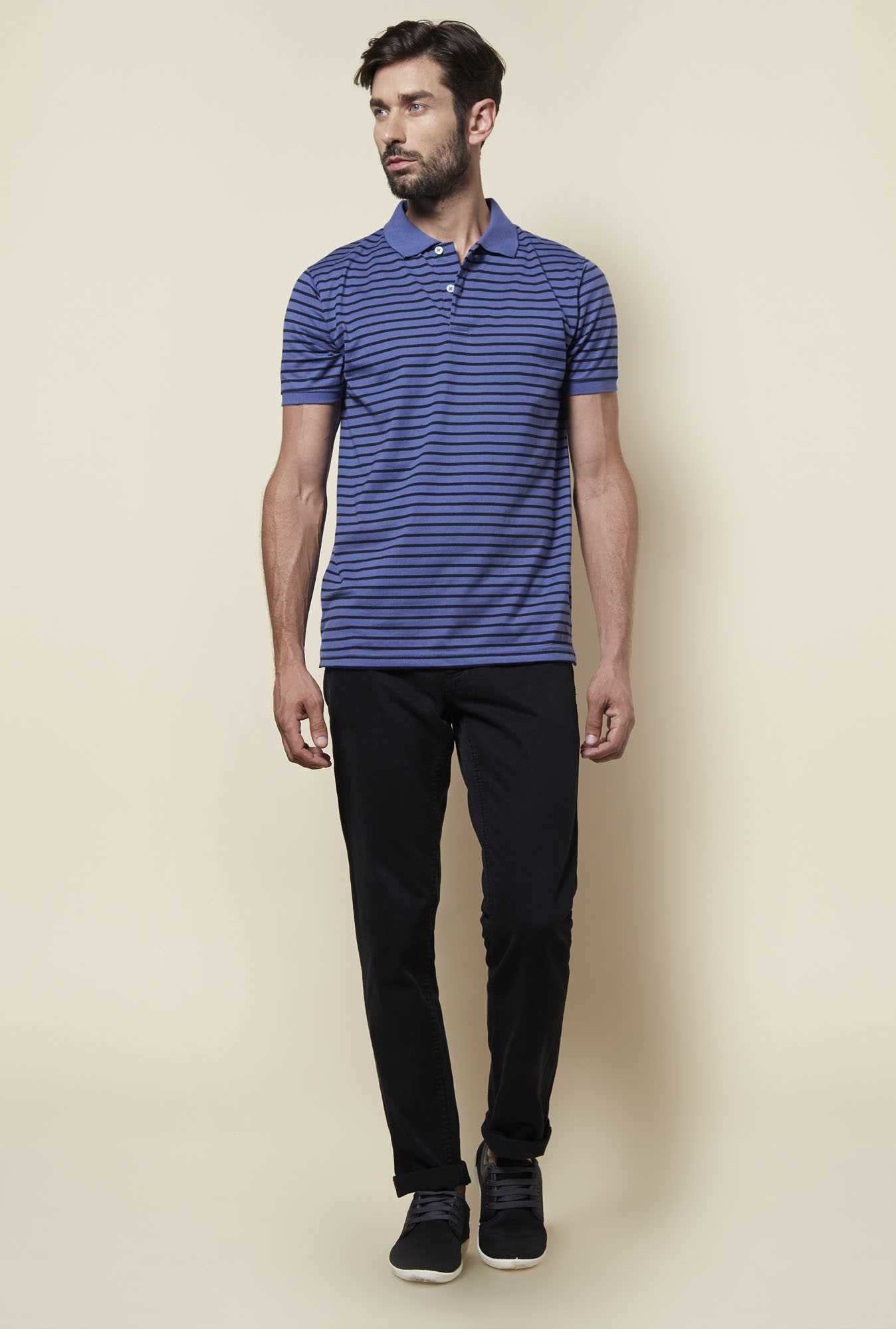 Zudio Indigo Polo T Shirt