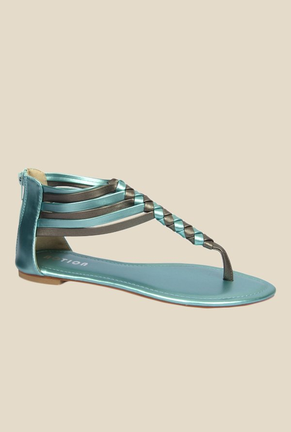 Notion Graziana Blue Gladiator Sandals