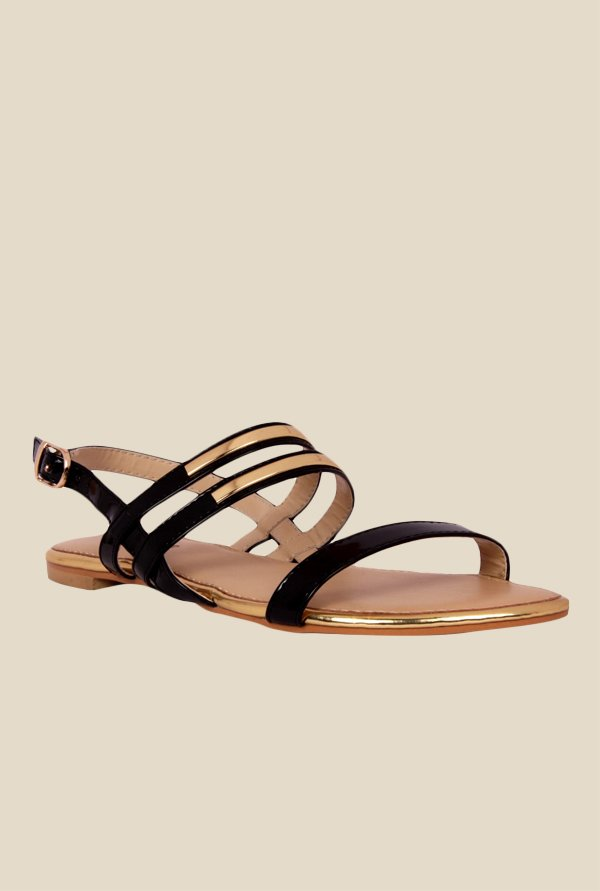 Notion Giuliana Black Back Strap Sandals