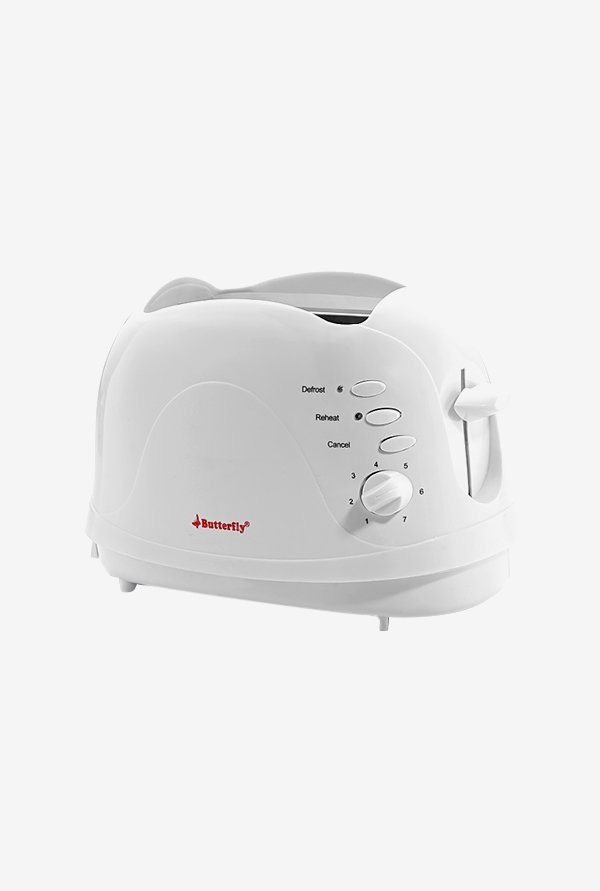 Butterfly AG001D 750 W Pop Up Toaster (White)
