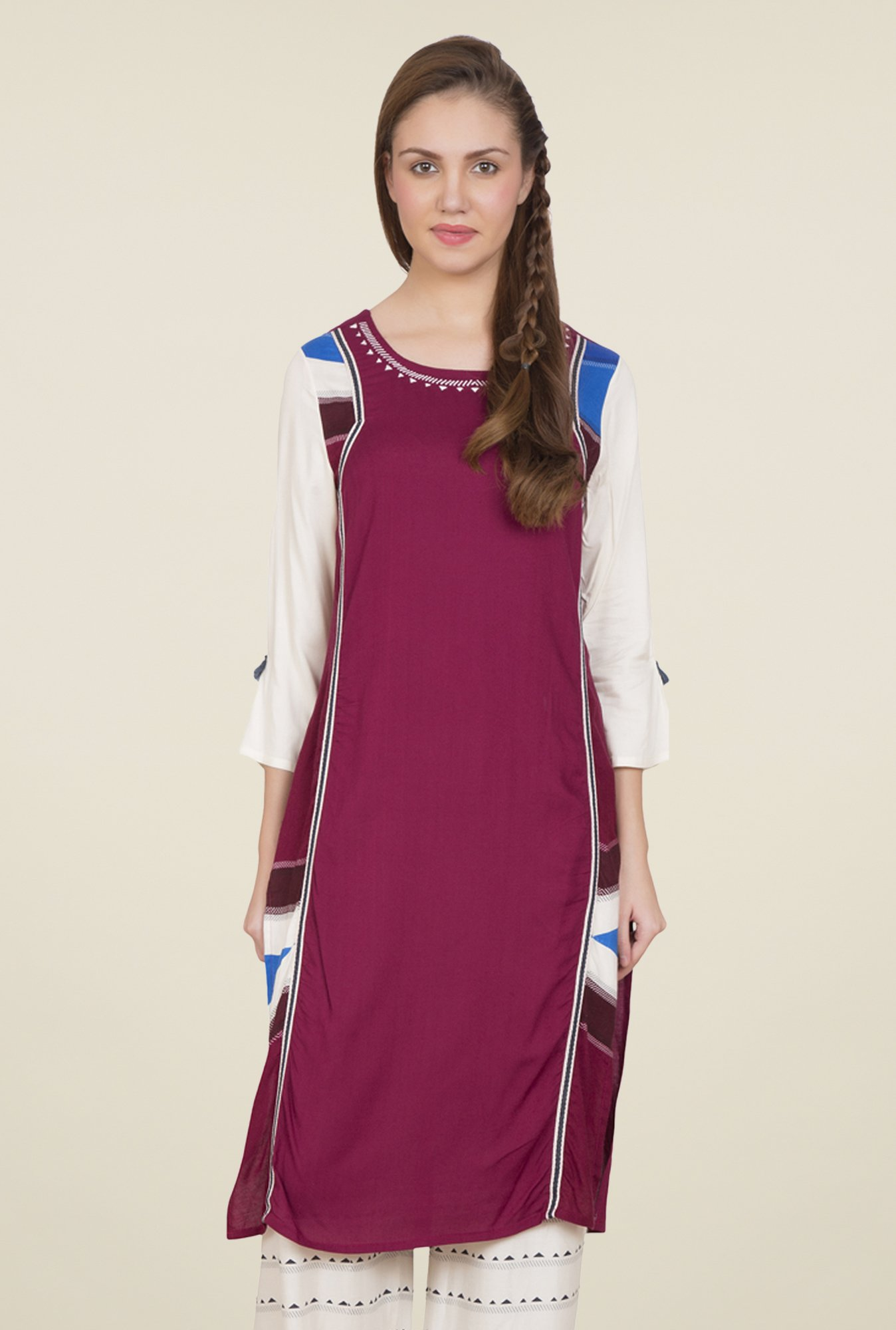 Desi Belle Purple Printed Kurti