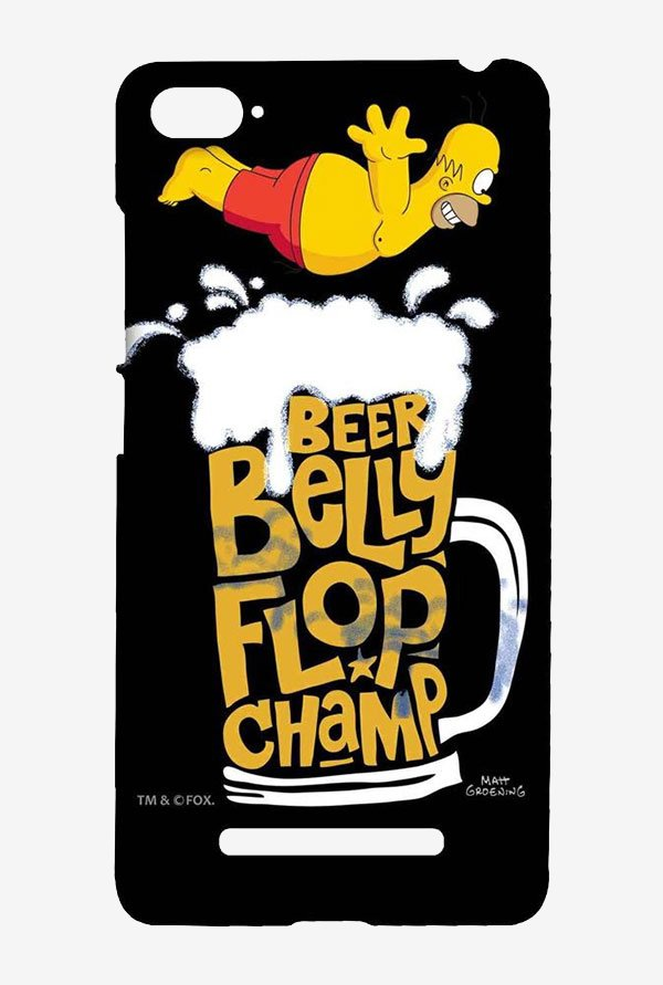 Simpsons Beer Belly Flop Champ Black Case for Xiaomi Mi4i