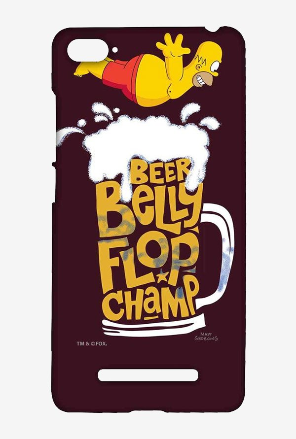 Simpsons Beer Belly Flop Champ Maroon Case for Xiaomi Mi4i