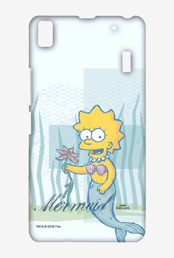Simpsons Mermaid Case for Lenovo K3 Note