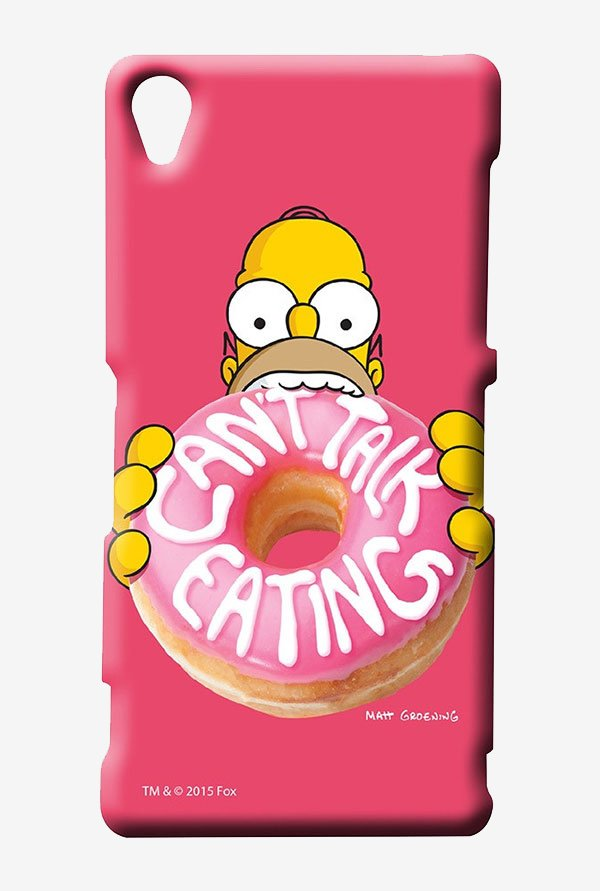 Simpsons Cant Talk Eating Pink Case for Sony Xperia Z3