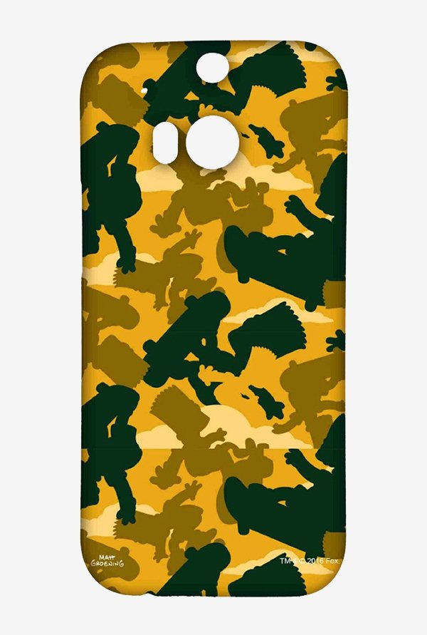 Simpsons Camo Bart Case for HTC One M8