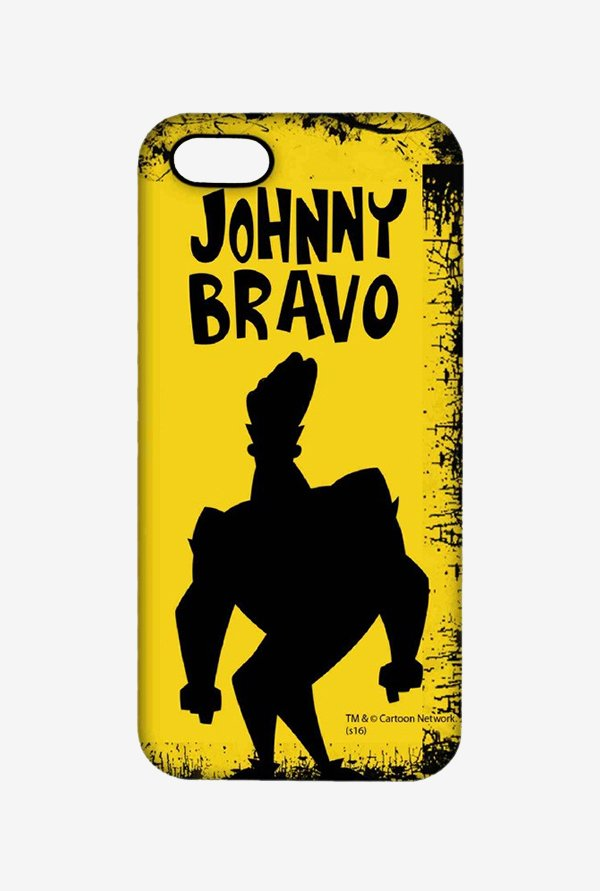 Johnny Bravo Yellow Grunge Case for iPhone 5/5s