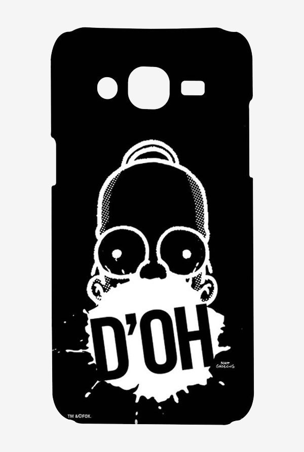 Simpsons D'OH Black Case for Samsung On7