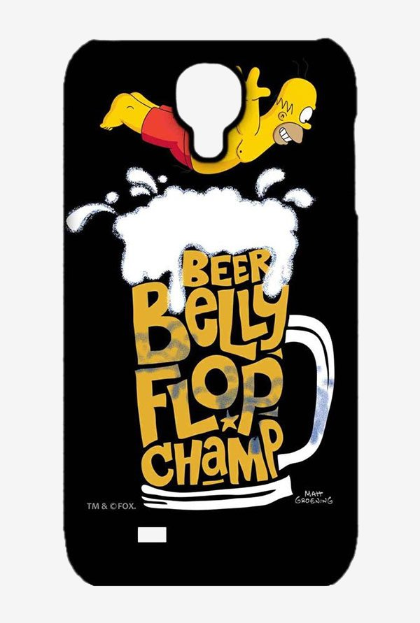 Simpsons Beer Belly Flop Champ Black Case for Samsung S4
