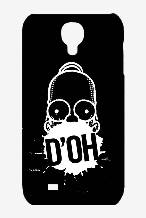 Simpsons D'OH Black Case for Samsung S4