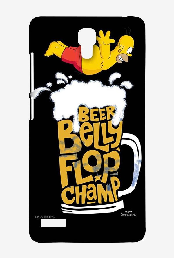 Simpsons Beer Belly Flop Champ Black Case for Redmi Note 4G