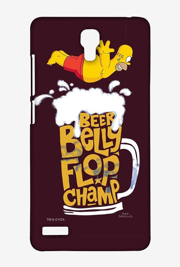 Simpsons Beer Belly Flop Champ Maroon Case for Redmi Note 4G