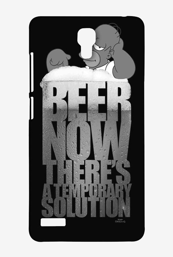 Simpsons The Beer Solution Black Case for Redmi Note 4G